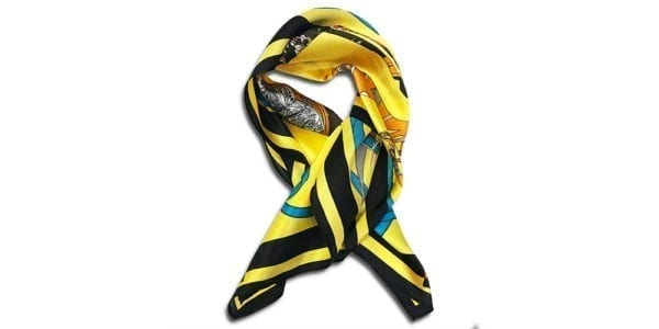 CVD.003 14u ρούχα αξεσουάρ μεταξώτο εμπριμέ μαντήλι πολυτελές γυναίκα γυναικείο