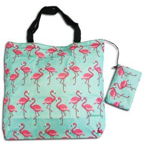 14U Ελληνική εταιρεία ρούχων αξεσουάρ έξυπνα δώρα έξυπνο δώρο δώρων Flamingo Shopping bag Τσάντα αγορών Αναδιπλούμενη ισχυρή αντοχής ποιοτικό ποιοτική οικολογικό φιλικό προς το περιβάλλον Πολύχρωμο πολύχρωμη χαρούμενα χρώματα μεγάλο ελαφρύ ανθεκτικό γενικής χρήσης