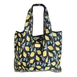 14u ελληνική εταιρεία ρούχων αξεσουάρ λεμόνια Shopping bag Τσάντα αγορών Αναδιπλούμενη ισχυρή αντοχής ποιοτικό ποιοτική οικολογικό φιλικό προς το περιβάλλον Πολύχρωμο πολύχρωμη χαρούμενα χρώματα μεγάλο ελαφρύ ανθεκτικό γενικής  χρήσης