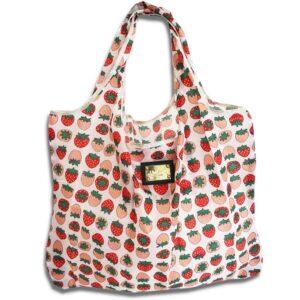 14u ελληνική εταιρεία ρούχων αξεσουάρ φράουλες daiquiri Shopping bag Τσάντα αγορών Αναδιπλούμενη ισχυρή αντοχής ποιοτικό ποιοτική οικολογικό φιλικό προς το περιβάλλον Πολύχρωμο πολύχρωμη χαρούμενα χρώματα μεγάλο ελαφρύ ανθεκτικό γενικής  χρήσης
