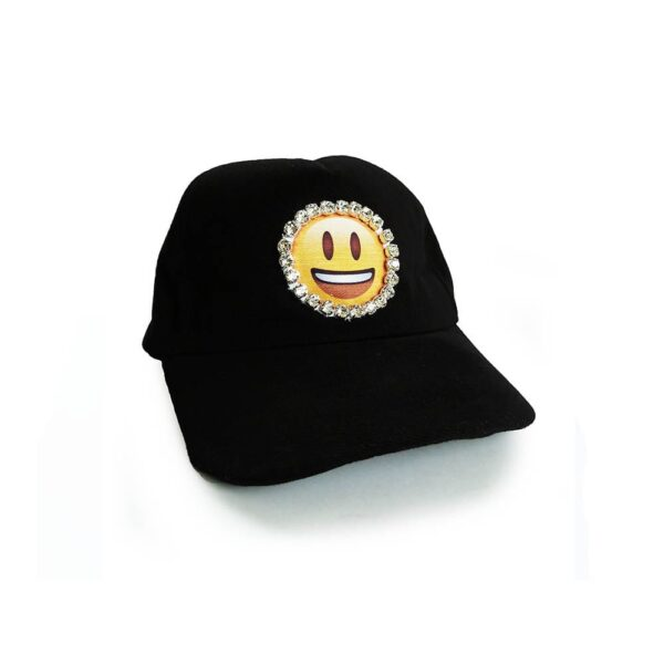 235.01 14u Ελληνική Εταιρεία Ρούχων και αξεσουάρ καθημερινό ποιοτικό βαμβακερό καπέλο κεντημένο emoji 1.4.U με αυθεντικά κρύσταλλα Swrovski διάθεση της ημέρας