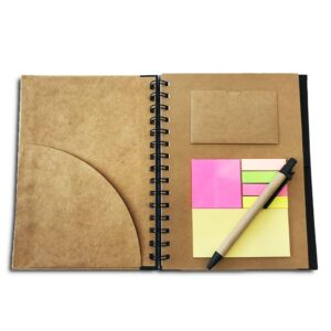 CCR.019 14U hellenic greek brand clothes accessories gifts Eco friendly notebook with computer, pen and stickers (2)