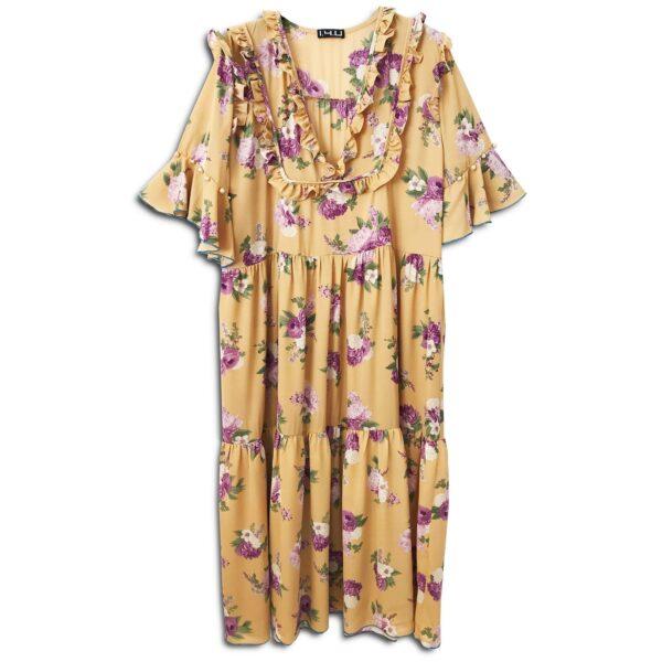 CVD.026 14u ελληνική εταιρεία ρούχων αξεσουαρ φόρεμα fashion ρομαντικό Εμπριμέ Φόρεμα vintage άνοιξη καλοκαίρι θετική ενεργεια style γυναικείο γυναίκαυπέροχο όμορφο όλη μέρα νύχτα καθημερίνο αμπιγιέ designer