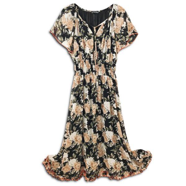 CVD.028 14u ελληνική εταιρεία ρούχων αξεσουαρ φόρεμα fashion εμπριμέ λουλουδάτο φλοράλ άνοιξη καλοκαίρι θετική ενεργεια style γυναικείο γυναίκαυπέροχο όμορφο όλη μέρα νύχτα καθημερίνο αμπιγιέ designer