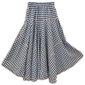 CVD.033 14u Hellenic Greek Fashion Brand Clothes Accessories handmade cotton skirt Checkerd check skirt cotton beautiful alla day easy skirt (2)