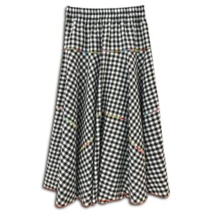 CVD.033 14u Hellenic Greek Fashion Brand Clothes Accessories handmade cotton skirt Checkerd check skirt cotton beautiful alla day easy skirt