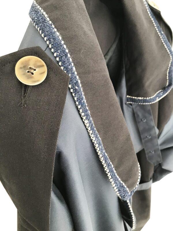 CVD.036 14U Ελληνική εταιρεία ρούχων και αξεσουάρ Πολυτελής, Συλλεκτική, Υψηλής Ραπτικής. Καπαρντίνα μοναδικής ποιότητας απο εξαιρετίκα υλικά
