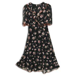 CVD.038 14u ελληνική εταιρεία ρούχων αξεσουαρ φόρεμα fashion ρομαντικό Εμπριμέ Φόρεμα vintage άνοιξη καλοκαίρι θετική ενεργεια style γυναικείο γυναίκαυπέροχο όμορφο όλη μέρα νύχτα καθημερίνο αμπιγιέ designer