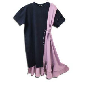 CVD.051 14U ελληνική εταιρεία ρούχων αξεσουαρ βαμβακερό σκούρο γκρι φόρεμα άλφα γραμμή fashion μονόχρωμο άνοιξη καλοκαίρι θετική ενεργεια style γυναικείο γυναίκα υπέροχο όμορφο όλη μέρα καθημερίνο design συλλεκτικό