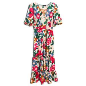 RLX.030F 14u ελληνική εταιρεία ρούχων αξεσουαρ φόρεμα fashion εμπριμέ λουλουδάτο φλοράλ άνοιξη καλοκαίρι θετική ενεργεια style γυναικείο γυναίκαυπέροχο όμορφο όλη μέρα νύχτα καθημερίνο αμπιγιέ designer