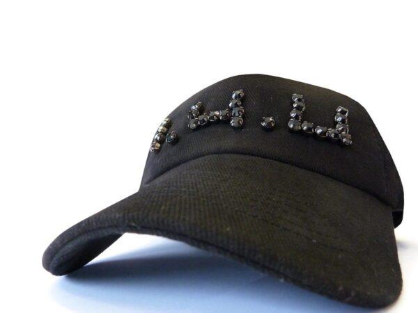 hat04 14u Ελληνική Εταιρεία Ρούχων και αξεσουάρ καθημερινό ποιοτικό βαμβακερό καπέλο κεντημένο λογότυπο 1.4.U με αυθεντικά κρύσταλλα Swrovski