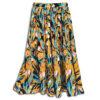 CRG.052 14u ρούχα αξεσουάρ τροπική εξωτική χαρούμενη φούστα γυναικεία γυναίκα χειροποίητη άνοιξη καλοκαίρι εμπριμέ λουλούδια