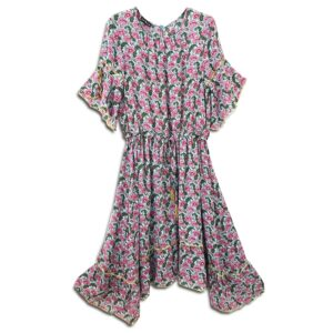 CRG.064 14u ελληνική εταιρεία ρούχων αξεσουαρ φόρεμα fashion ρομαντικό Εμπριμέ Φόρεμα vintage άνοιξη καλοκαίρι θετική ενεργεια style γυναικείο γυναίκα υπέροχο όμορφο όλη μέρα νύχτα καθημερίνο αμπιγιέ designer