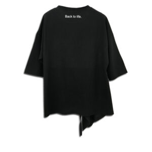 CRG.067 14u clothes accessories hellenic greek brand dress fashion spring white summer good vibes style ladies beautiful awesome top black white classic soft loose loose fit Cotton Asymmetric Sweatshirt