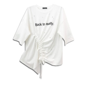 CRG.067B 14u clothes accessories hellenic greek brand dress fashion spring white summer good vibes style ladies beautiful awesome top black white classic soft loose loose fit Cotton Asymmetric Sweatshirt