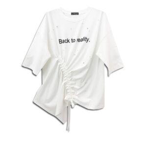 CRG.067B  14U ελληνική εταιρεία ρούχων αξεσουαρ τοπάκι μπλούζα τοπ χειροποίητο fashion μονόχρωμο Βαμβακερό Ασύμμετρο Τοπ άνοιξη καλοκαίρι θετική ενεργεια style γυναικείο γυναίκα υπέροχο όμορφο όλη μέρα νύχτα καθημερίνο κεντημένο στάμπα σταμπρομένο λογότυπο