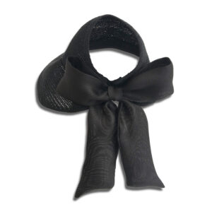 CRG.069 14u Hellenic Fashion Brand Colorful Modern stylish trendy hat paper cotton beautiful Luxury limited Style woman gift exclusive silk black bow