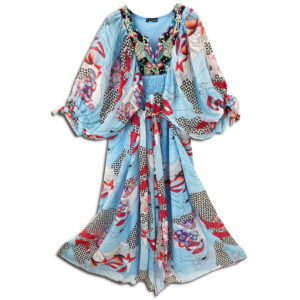 CRG.177J 14u clothes accessories hellenic greek brand colorful boho summer long Oversized beautiful kaftan Ethnic limited edition woman ecxlusive fashion luxury lux luxurius