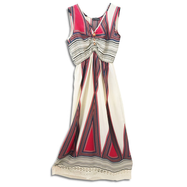 CRG.234B1 14u ελληνική εταιρεία ρούχων αξεσουαρ φόρεμα fashion ρομαντικό Εμπριμέ Φόρεμα vintage άνοιξη καλοκαίρι θετική ενεργεια style γυναικείο γυναίκαυπέροχο όμορφο όλη μέρα νύχτα καθημερίνο αμπιγιέ designer μποέμ λαχούρια μοναδικό