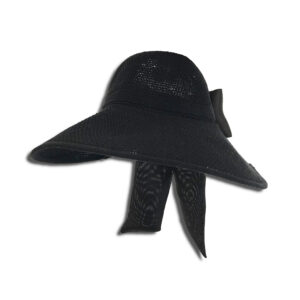CVD.070A 14u Hellenic Fashion Brand Colorful Modern stylish trendy hat paper cotton beautiful Luxury limited Style woman gift exclusive silk black bow