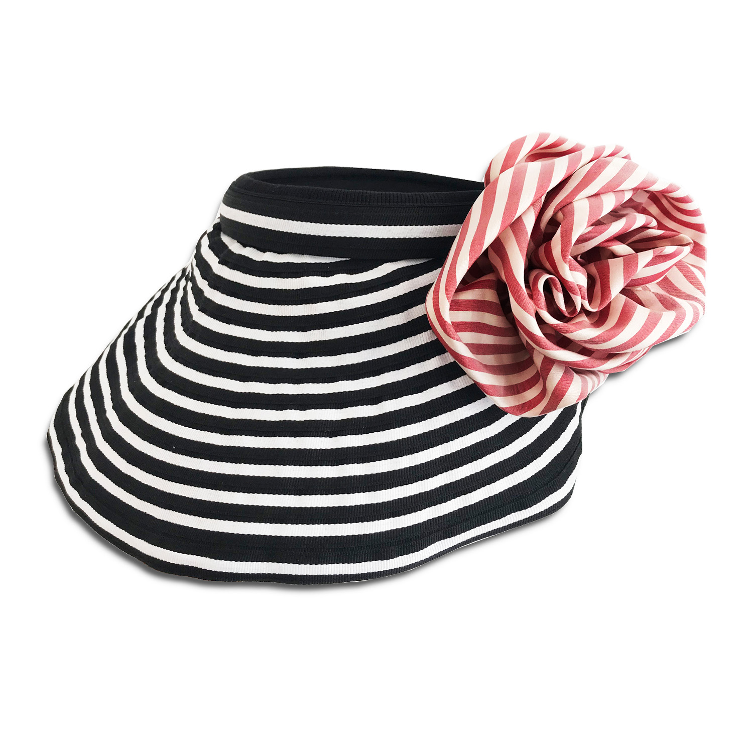 CVD.071B 14u Hellenic Fashion Brand Colorful Modern stylish trendy visor hat foldable cotton beautiful Luxury limited Style woman gift exclusive Cotton Removable Flower