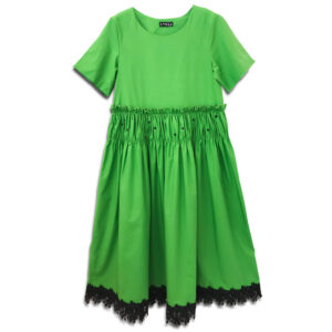 CVD.074 14u Hellenic greek brand womens clothes accessories green beautiful dress handmade with swarovski crystals oversized one size lux luxury exclusive limited edition t-shirt dress