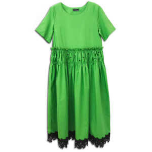 CVD.074a 14u Hellenic greek brand womens clothes accessories green beautiful dress handmade with swarovski crystals oversized one size lux luxury exclusive limited edition t-shirt dress