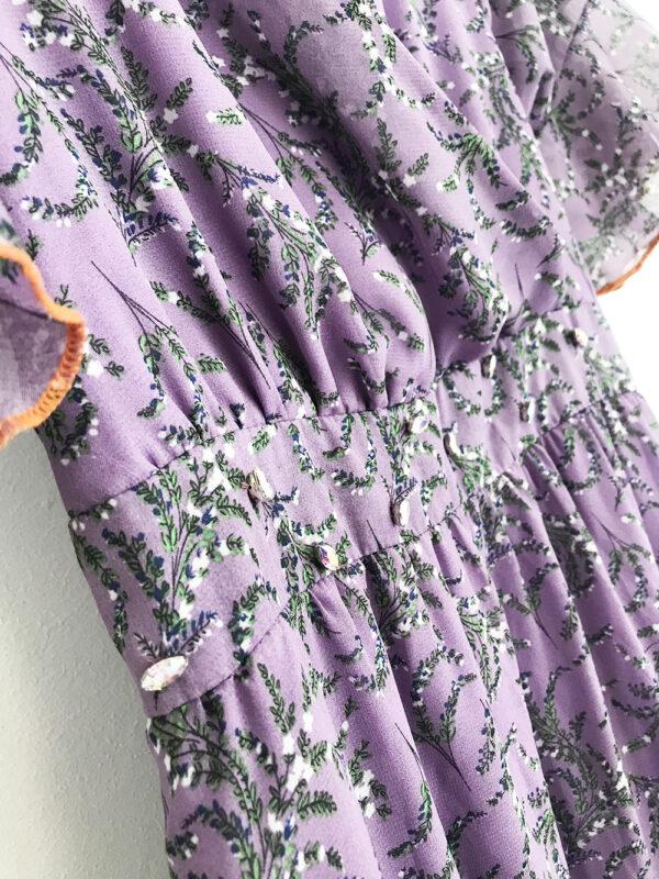 KLN.054 14u ελληνική εταιρεία ρούχων αξεσουαρ φόρεμα fashion ρομαντικό Μωβ λεβάντα Εμπριμέ Φόρεμα vintage άνοιξη καλοκαίρι θετική ενεργεια style γυναικείο γυναίκαυπέροχο όμορφο όλη μέρα νύχτα καθημερίνο αμπιγιέ designer