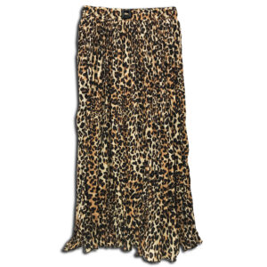 VRK.055 14u Hellenic Greek Brand Clothes Accessories womans Animal Print Pleated Skirt handmade with swarovski crysytals beautiful all day skirt
