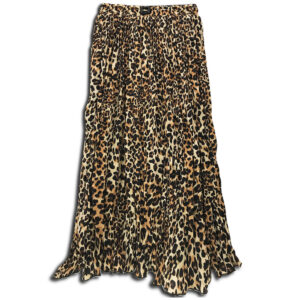 VRK.055a VRK.055 14u Hellenic Greek Brand Clothes Accessories womans Animal Print Pleated Skirt handmade with swarovski crysytals beautiful all day skirt