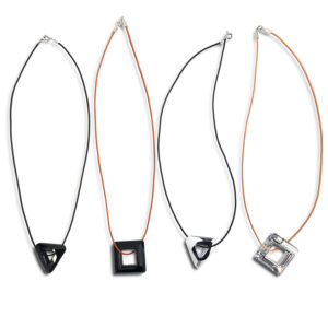 N28E99C 14U Hellenic Greek Fashion Brand Clothes Accessories Gifts woman womans Leather necklace with special swarovski crystal (2)