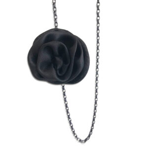 NCSF.39 14U Hellenic Greek Fashion Brand Clothes Accessories Gifts woman womans Metal Chain Necklace with silk handmade flower beautiful awesome exclusive style fashion