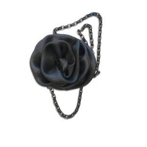 NCSF.39a 14U Hellenic Greek Fashion Brand Clothes Accessories Gifts woman womans Metal Chain Necklace with silk handmade flower beautiful awesome exclusive style fashion