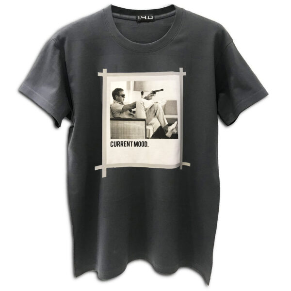 14u χειροποίητη στάμπα μπλούζα για άντρες και γυναίκες steve mqueen current mood