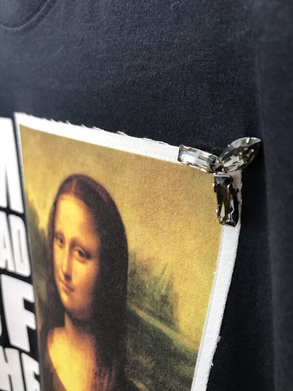14u ελληνική εταιρεία ρούχων και αξεσουάρ χειροποίητη στάμπα μπλούζα για άντρες και γυναίκες swarovski Joconda leonardo da vinci mona lisa (2)