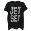 14u ρούχα αξεσουάρ μπλούζα ανδρικό γυναικείο unisex t shirt κεντημένο κρυσταλα swarovski πολυτελείας jet set στάμπα λογότυπο