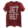 14U Hellenic Greek Fashion Brand Design Clothes Accessories Jet Set exclusive range Tshirt handmade with swarovski crystals cosmopolitan travel style red