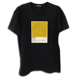 14u helenic greek brand Clothes Accessories Unisex Chrismas t-shirt pantone fucking colors man woman black print glitter shine beautiful gold
