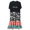 324.01 14U ελληνική εταιρεία ρούχων αξεσουαρ ανετο t-shirt φορεμα χειροποίητο fashion μονόχρωμο άνοιξη καλοκαίρι style γυναικείο γυναίκα υπέροχο όμορφο όλη μέρα νύχτα καθημερίνο κεντημένο με εμπριμέ λουλουδάτα βολάν