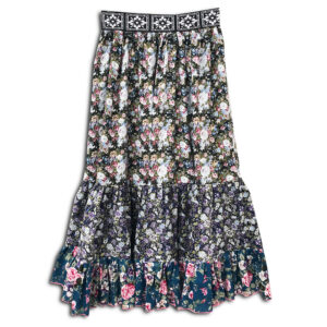 1.4.U Hellenic Greek Fashion Brand Clothes Accessories Handmade Floral Print Skirt Flowers (2)