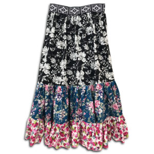 1.4.U Hellenic Greek Fashion Brand Clothes Accessories Handmade Floral Print Skirt Flowers