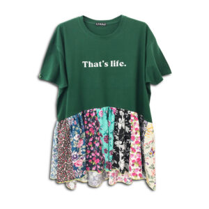 1.4.U Hellenic Greek Fashion Brand Clothes Accessories Handmade Floral Print Top Blouse Flowers 01