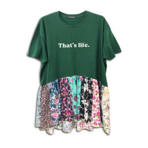 320.04 14U ελληνική εταιρεία ρούχων αξεσουαρ μπλούζα τοπ χειροποίητο fashion μονόχρωμο άνοιξη καλοκαίρι style γυναικείο γυναίκα υπέροχο όμορφο όλη μέρα νύχτα καθημερίνο κεντημένο με εμπριμέ λουλουδάτa βολάν