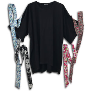 1.4.U Hellenic Greek Fashion Brand Clothes Accessories Handmade oversized limited cotton Floral Print top Flowers 01