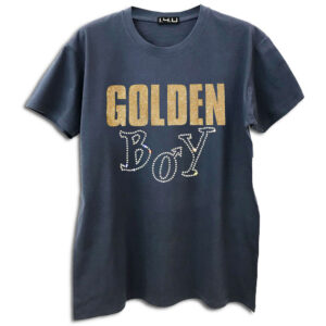 14U Hellenic Greek Fashion Brand Design Clothes Accessories Golden Boy exclusive range Tshirt handmade with swarovski crystals cosmopolitan travel style denim