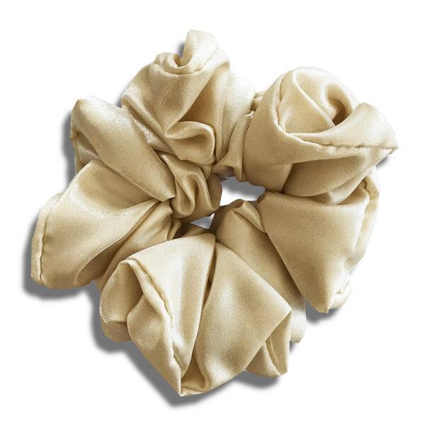 14U Ελληνική Εταιρεία Ρούχα Αξεσουάρ Δώρα Μεταξωτό Μεταλλικό Χειροποίητο Scrunchie