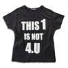 K157 14u-Ρούχα-Αξεσουάρ-unisex-παιδικά-αγόρια-κορίτσια-χειροποίητο-t-shirt-μοναδικό-Λογότυπο-Εκτπύπωση-Στάμπα-This 1 is not 4.U