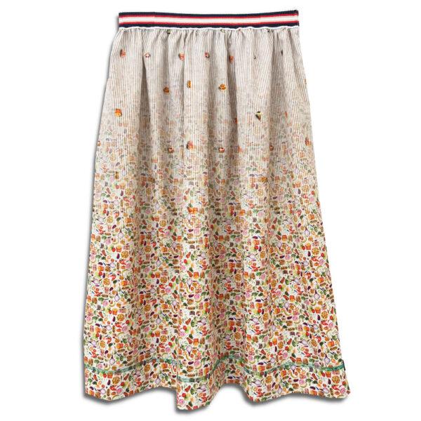323.02 14u ρούχα αξεσουάρ χαρούμενη φούστα γυναικεία γυναίκα χειροποίητη άνοιξη καλοκαίρι εμπλριμέ θάλασσα λιμάνι νησί νησιά