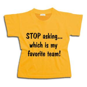 K001 my favorite team ΑΕΚ 14u-Ρούχα-Αξεσουάρ-unisex-παιδικά-αγόρια-κορίτσια-χειροποίητο-t-shirt-μοναδικό-Λογότυπο-Εκτπύπωση-Στάμπα