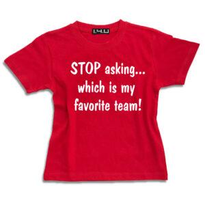K001 my favorite team ΟΛΥΜΠΙΑΚΟΣ 14u-Ρούχα-Αξεσουάρ-unisex-παιδικά-αγόρια-κορίτσια-χειροποίητο-t-shirt-μοναδικό-Λογότυπο-Εκτπύπωση-Στάμπα